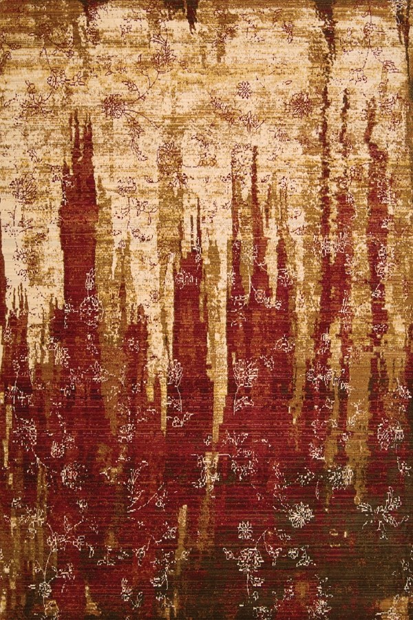 Gold, Garnet Transitional Area Rug