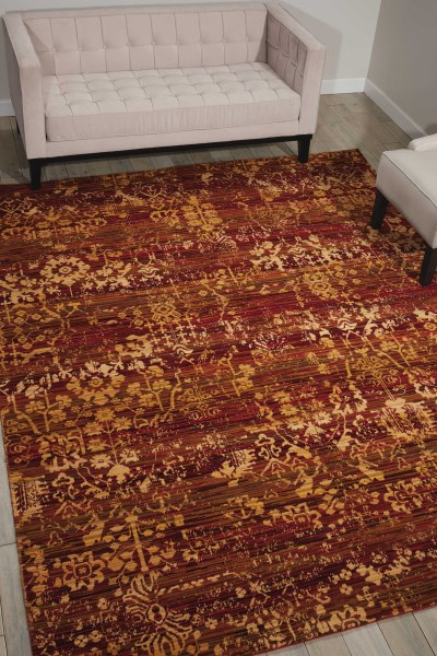 Yellow Traditional / Oriental Area Rug