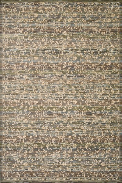 Blue, Moss Transitional Area Rug