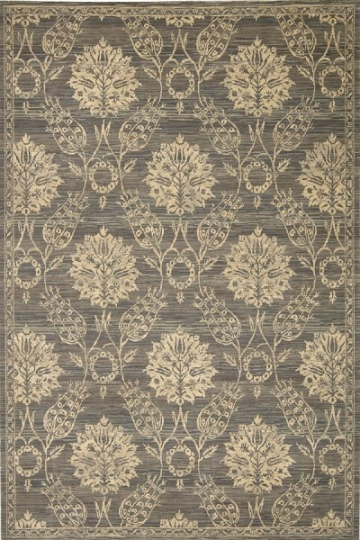 Graphite Traditional / Oriental Area Rug
