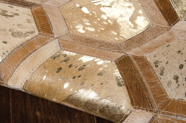 Amber Gold Contemporary / Modern Area Rug