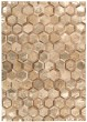 Product Image of Amber Gold Contemporary / Modern Area Rug