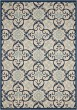 Product Image of Outdoor / Indoor Ivory, Navy Area Rug