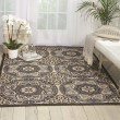 Product Image of Ivory, Charcoal Outdoor / Indoor Area Rug