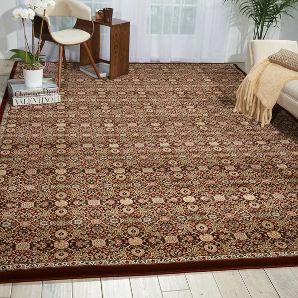Burgundy (ANT-08) Moroccan Area Rug