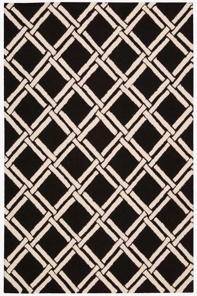 Black, White Transitional Area Rug