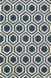 Product Image of Moroccan Blue, Ivory Area Rug