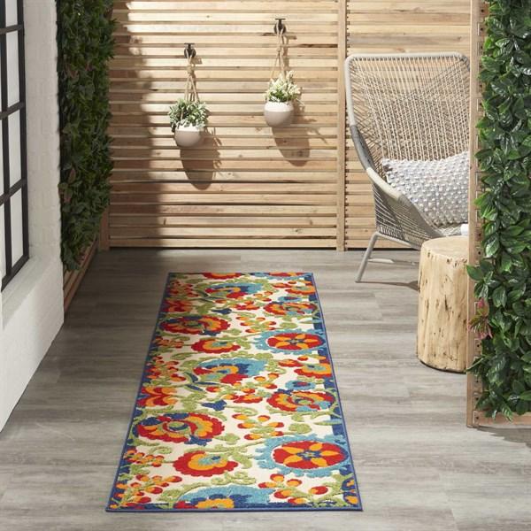 Red, Green Outdoor / Indoor Area Rug