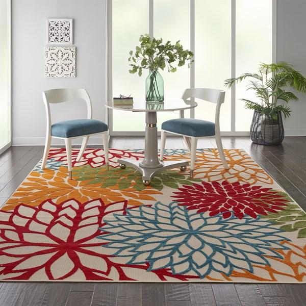 Green, Red, Orange Outdoor / Indoor Area Rug