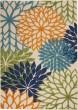 Product Image of Outdoor / Indoor Tan, Sage, Orange, Blue Area Rug