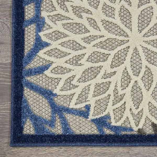 Blue, Beige, Cream Outdoor / Indoor Area Rug