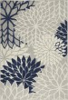 Product Image of Floral / Botanical Ivory, Navy Area Rug