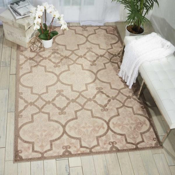 Cream Outdoor / Indoor Area Rug