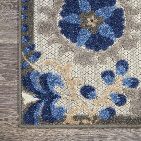 Natural, Blue Outdoor / Indoor Area Rug