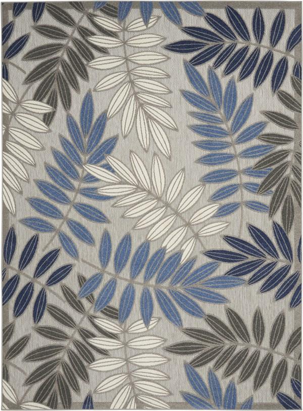 Grey, Blue Outdoor / Indoor Area Rug