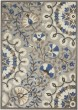 Product Image of Outdoor / Indoor Grey, Blue, Ivory Area Rug