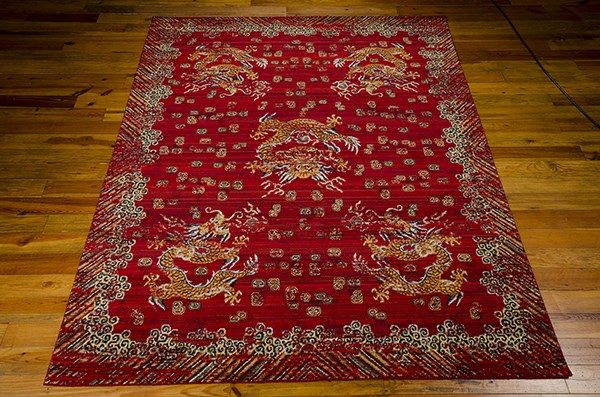 Ox Blood Traditional / Oriental Area Rug