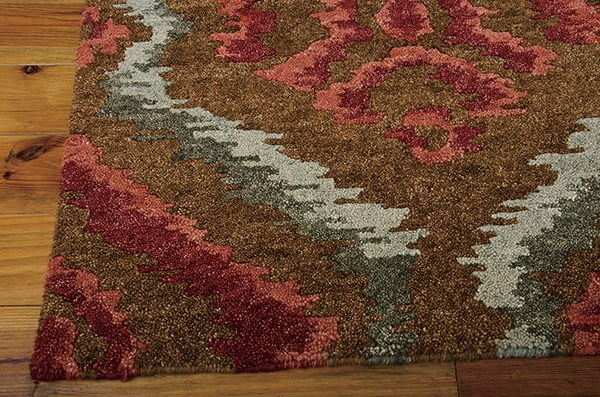 Brown, Red Moroccan Area Rug