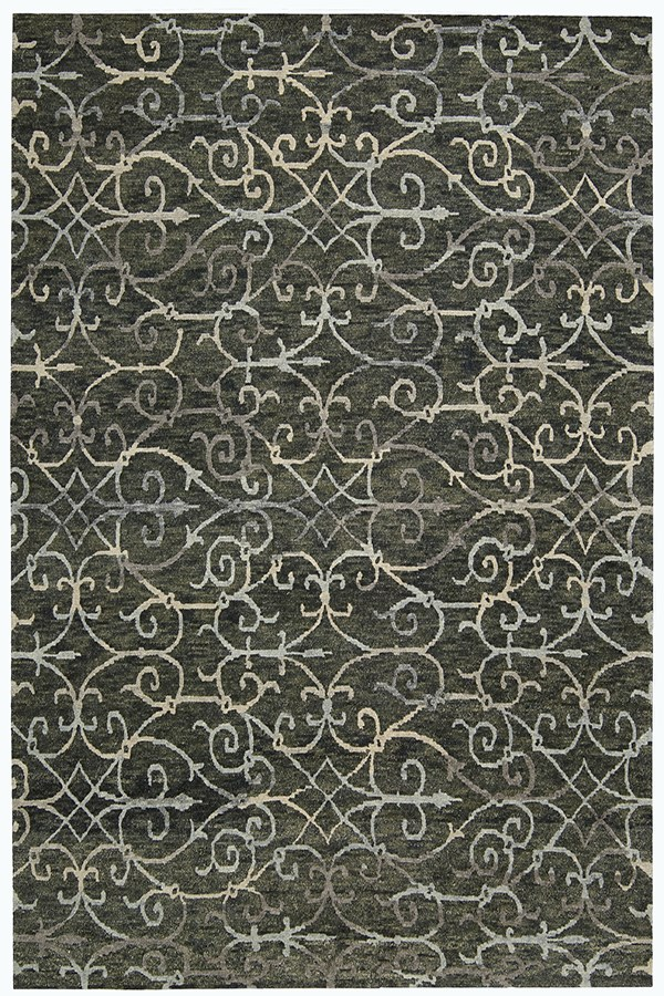 Charcoal Casual Area Rug