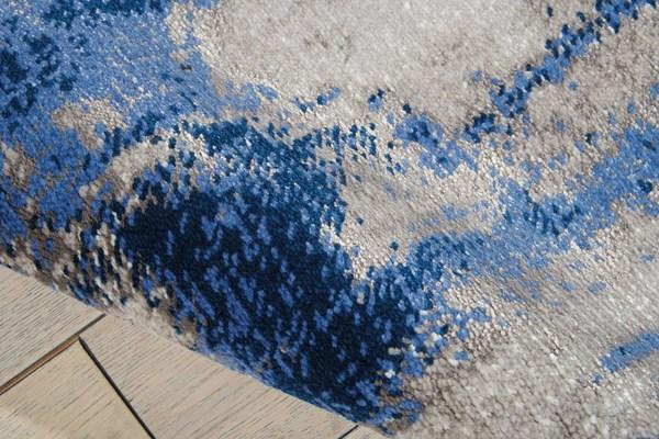 Grey, Blue Transitional Area Rug