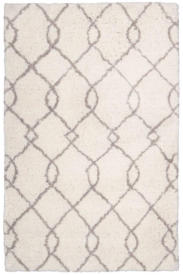 Ivory, Tan Moroccan Area Rug