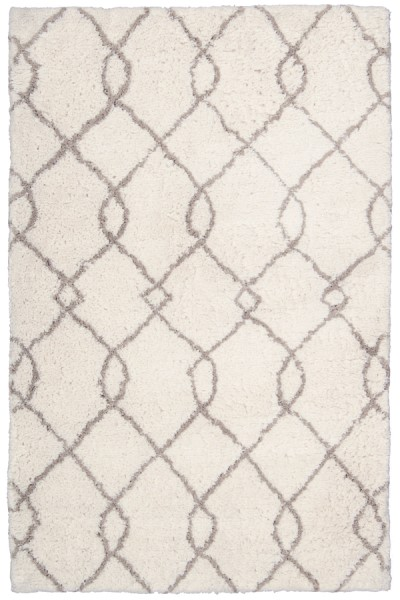 Ivory, Tan Contemporary / Modern Area Rug