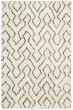 Product Image of Contemporary / Modern Ivory, Chocolate Area Rug