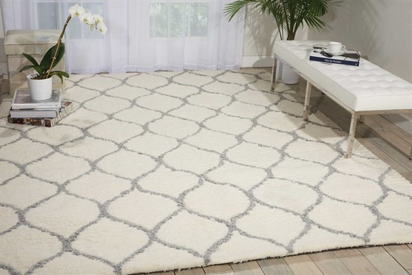 Ivory, Ash Contemporary / Modern Area Rug