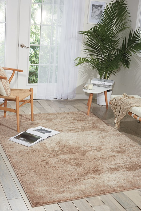 Beige Contemporary / Modern Area Rug