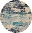 Product Image of Ivory, Teal Abstract Area Rug