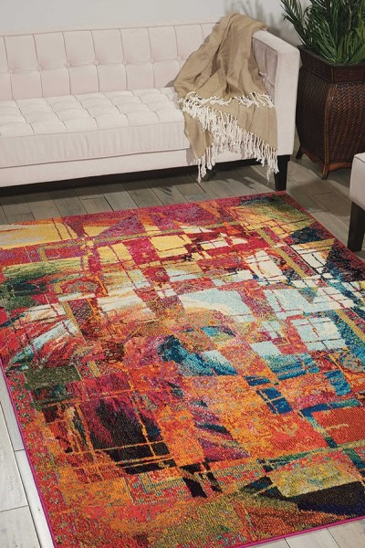 Stained Glass Abstract Area Rug