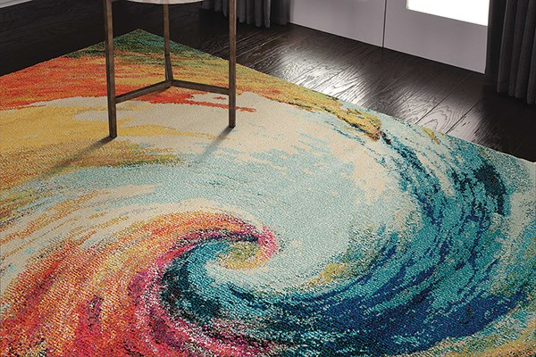 Wave Abstract Area Rug