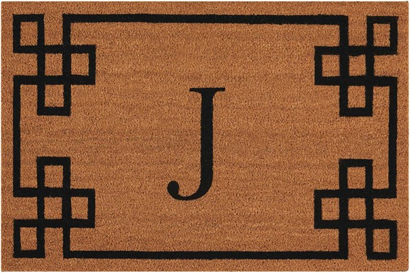 Letter J Outdoor / Indoor Area Rug