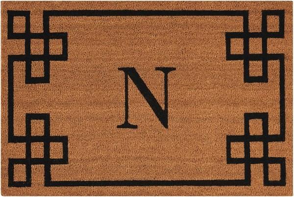 Letter N Outdoor / Indoor Area Rug