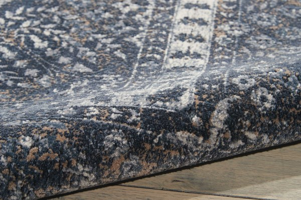 Navy Traditional / Oriental Area Rug