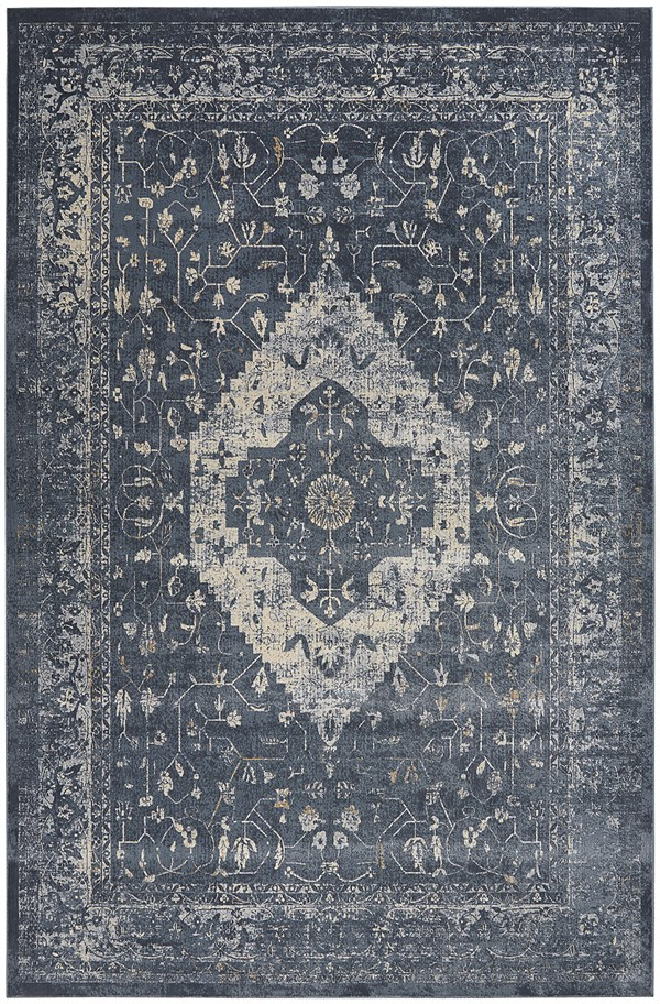 Navy Vintage / Overdyed Area Rug