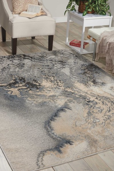 Grey Transitional Area Rug