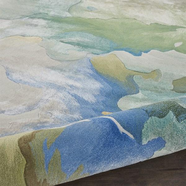 Seafoam Contemporary / Modern Area Rug