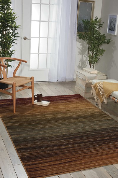 Red, Brown, Green, Blue Abstract Area Rug