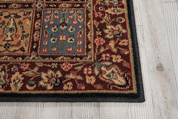 Tan, Burgundy Traditional / Oriental Area Rug