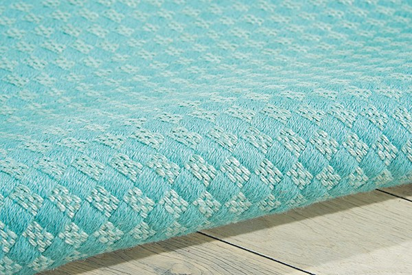 Aqua Solid Area Rug
