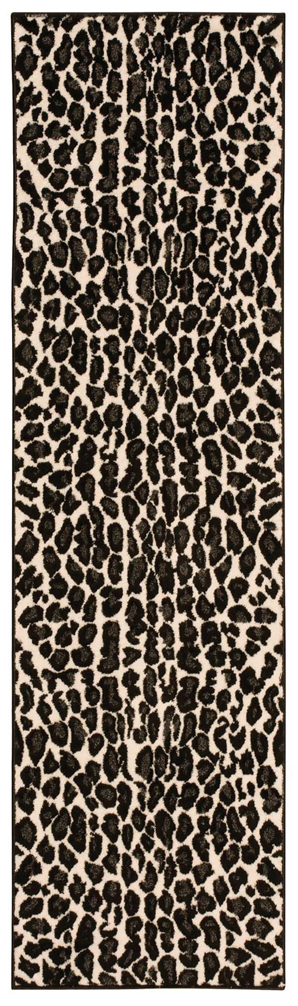 Ivory, Black Animals / Animal Skins Area Rug