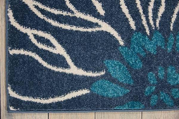 Blue Floral / Botanical Area Rug