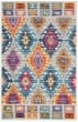 Product Image of Traditional / Oriental Blue, Pink, Yellow Area Rug