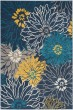 Product Image of Floral / Botanical Blue Area Rug