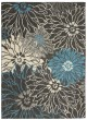 Product Image of Floral / Botanical Charcoal, Blue Area Rug