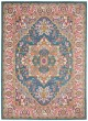 Product Image of Contemporary / Modern Teal, Pink Area Rug