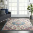 Product Image of Ivory, Blue, Pink Bohemian Area Rug