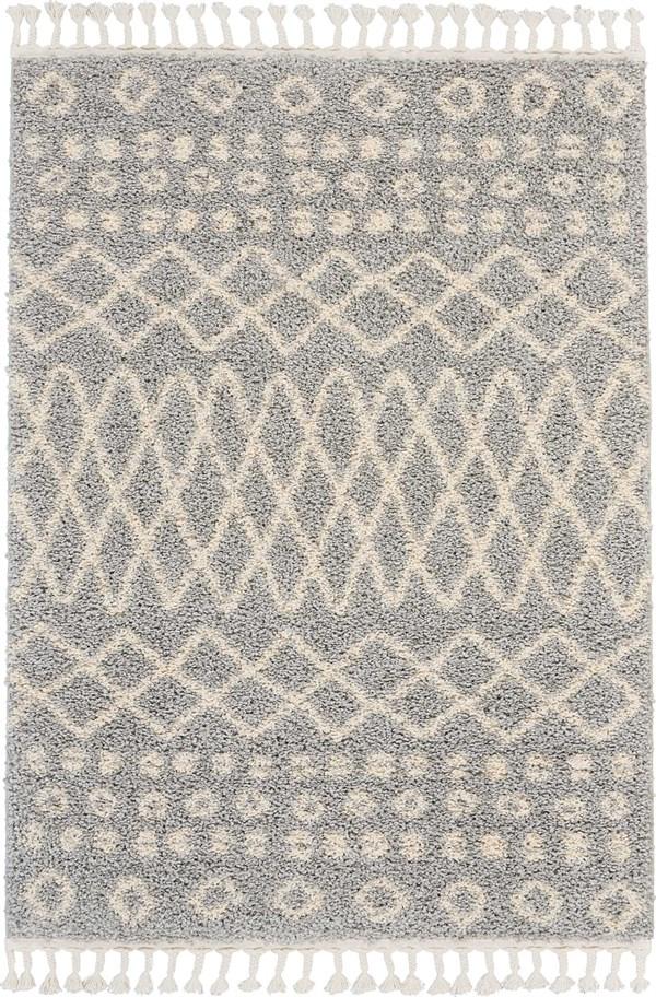 Silver Moroccan Area Rug