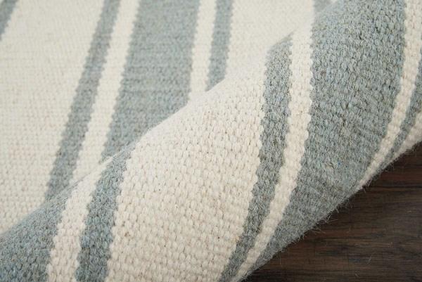 Ivory, Spa Striped Area Rug